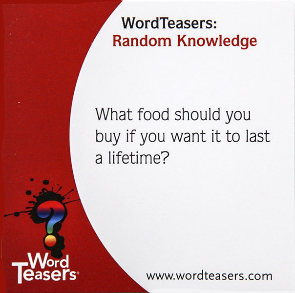 Random Knowledge Food Card