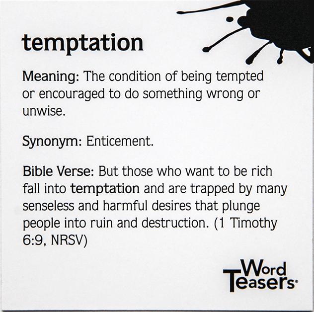 Faith card back temptation