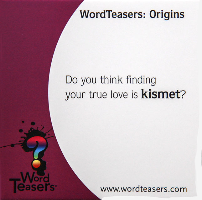 Origin of the word Kismet