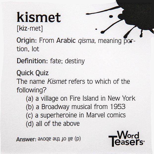 back of the kismet card