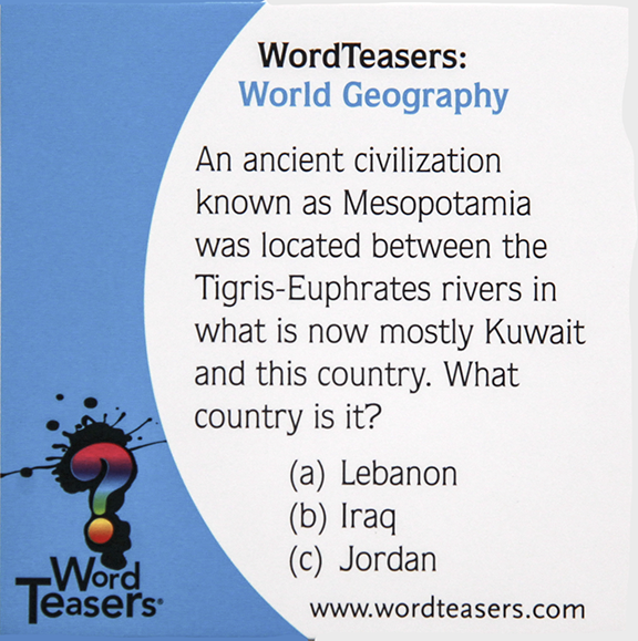 World Geography Card Mesopotamia