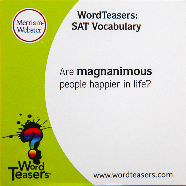 SAT word magnanimous