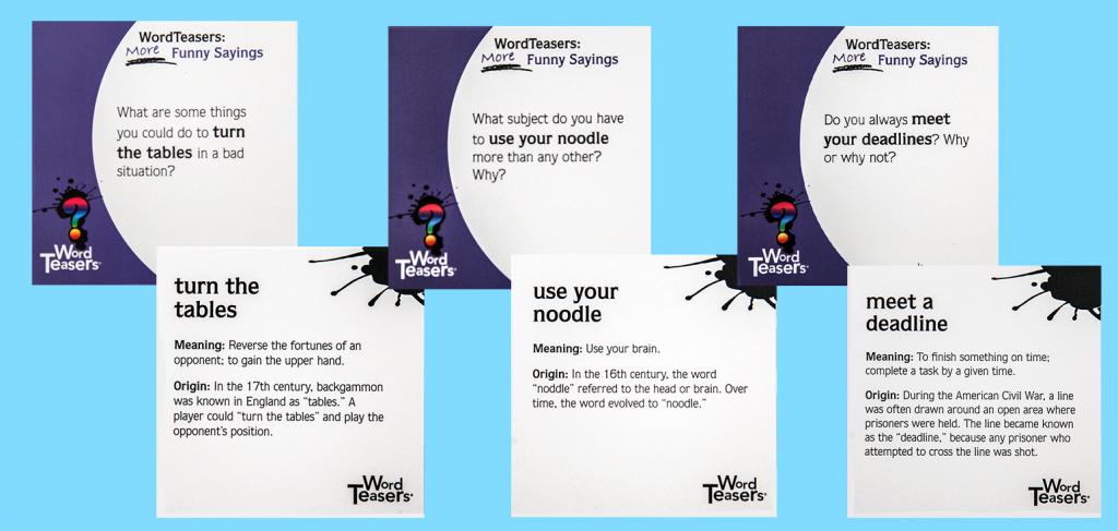 three More Funny Sayings cards