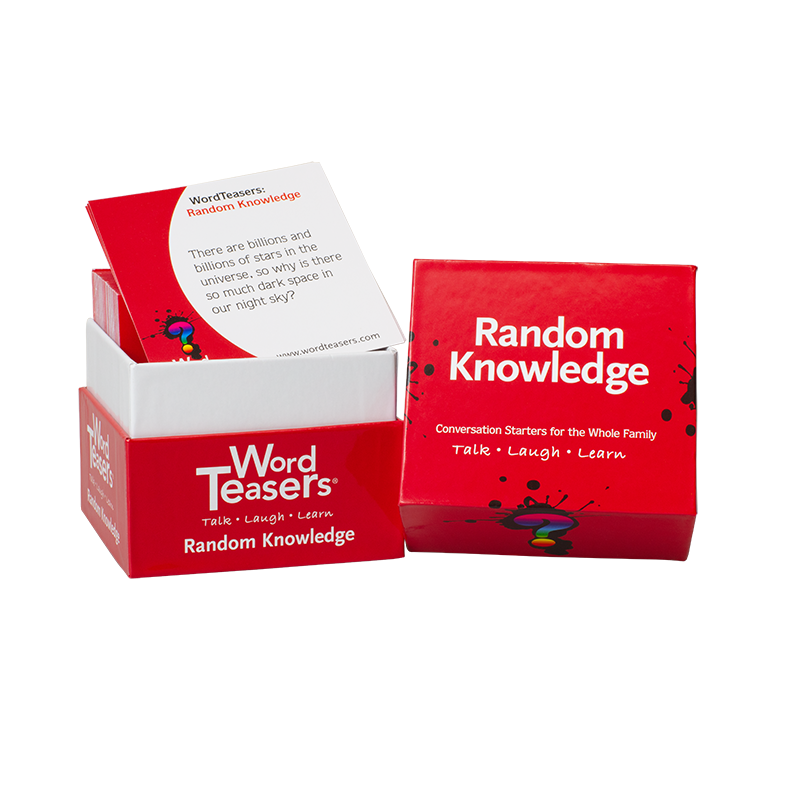Random Knowledge box of cards