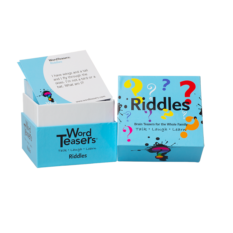 Riddles game open box