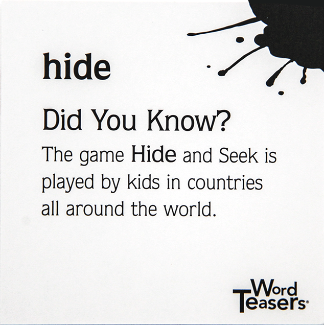small fry card game - hide and go seek